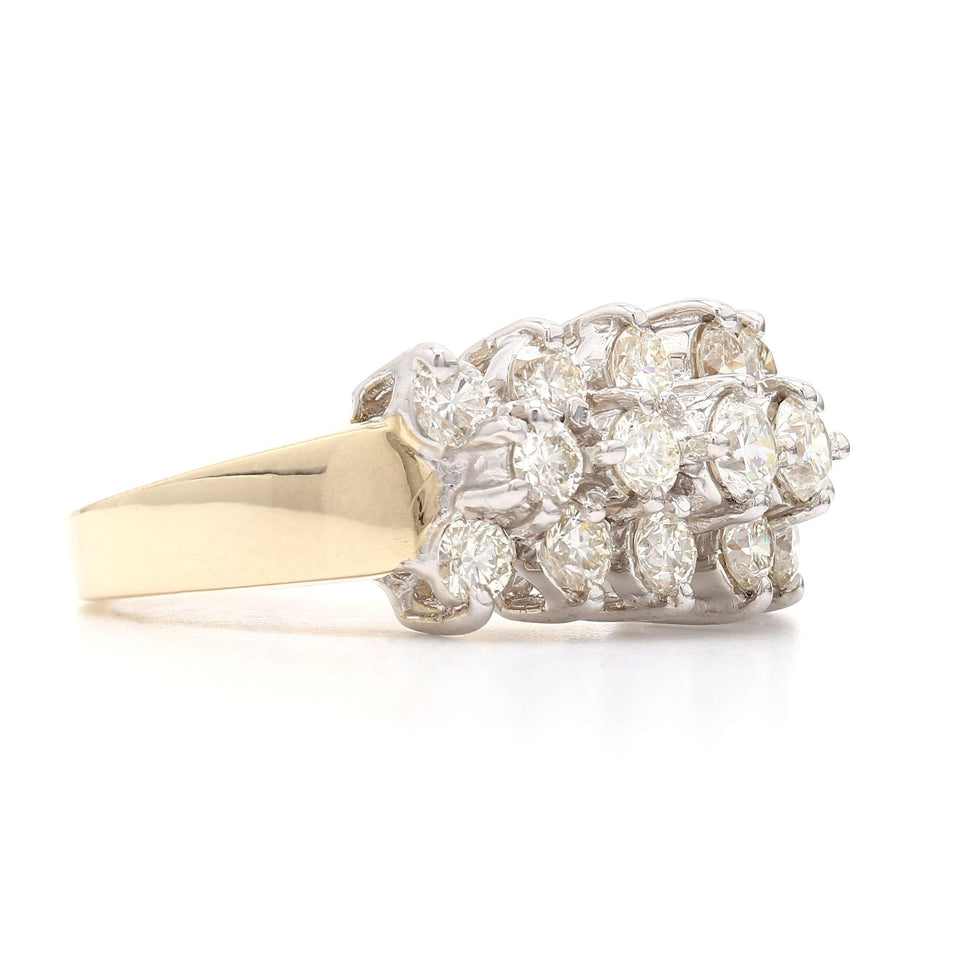 2.00 Ct. T.W. Lab Grown Diamond Ring 14K Yellow Gold