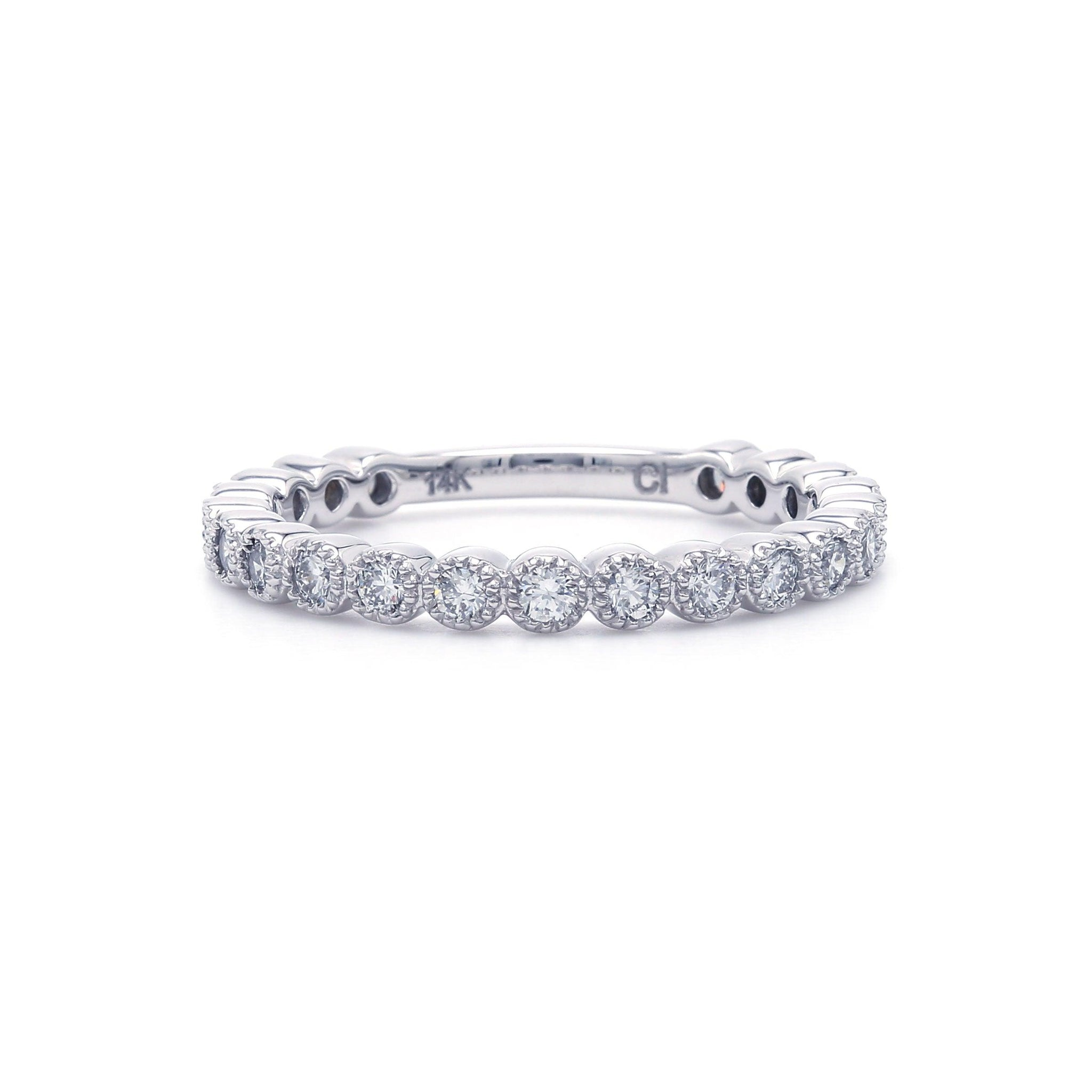 1/2 Ct. T.W. Lab-Grown Diamond Band 14K White Gold