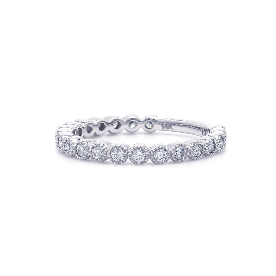 1/2 Ct. T.W. Lab Grown Diamond Band 14K White Gold