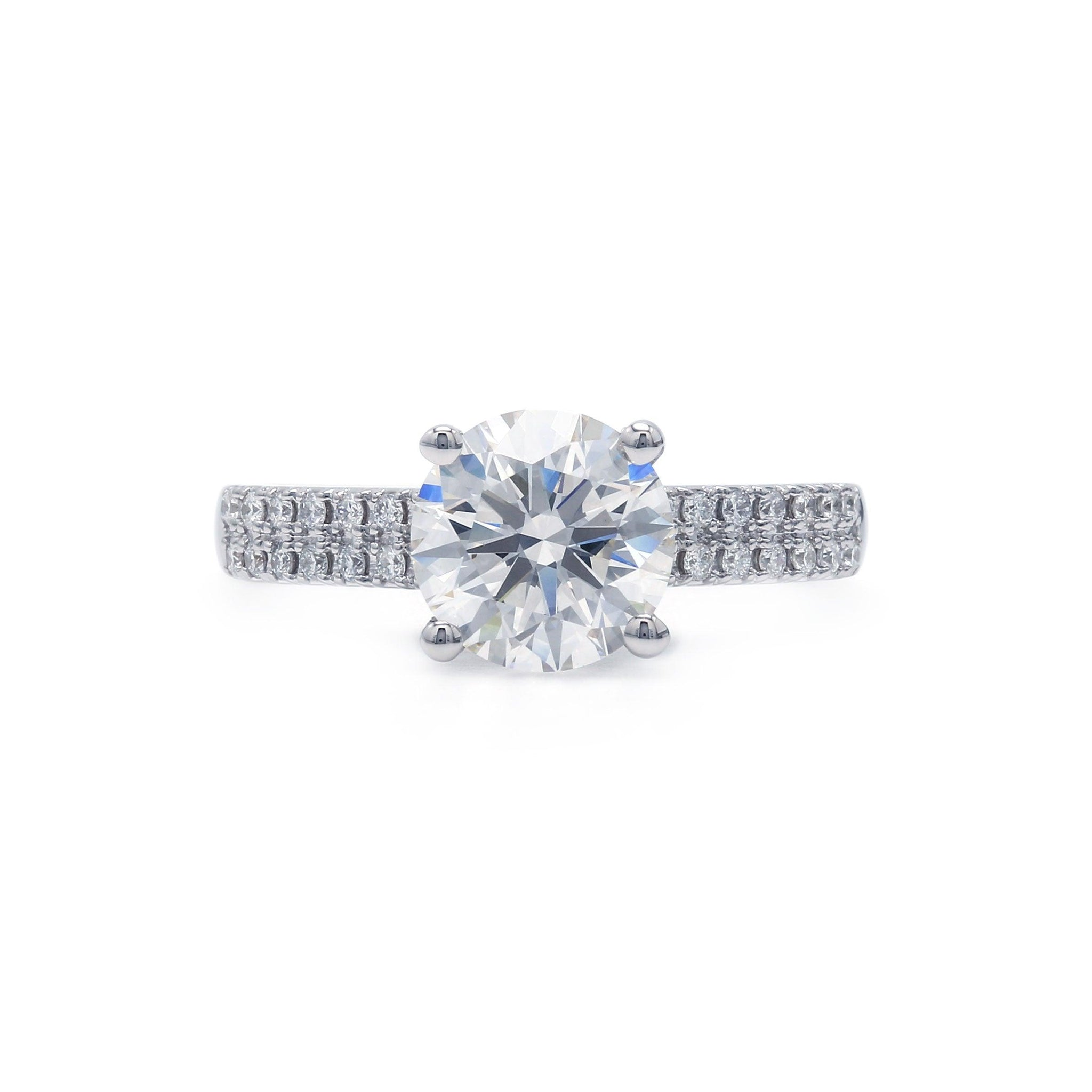 2 1/3 Ct. T.W. Lab-Grown IGI Certified Diamond 14K White Gold Ring (Center: 2.09 Ct. H VS1)