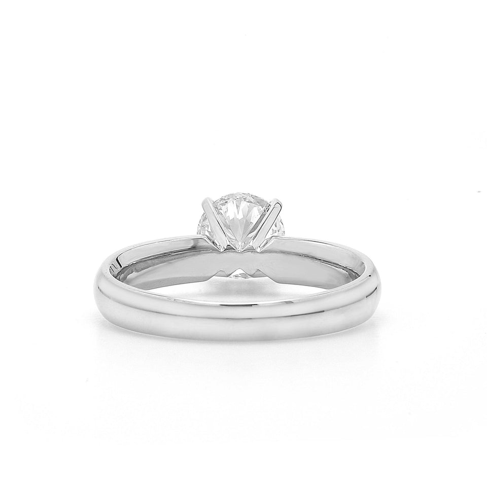 1.00 Carat Lab-Grown Diamond Ring 14K White Gold