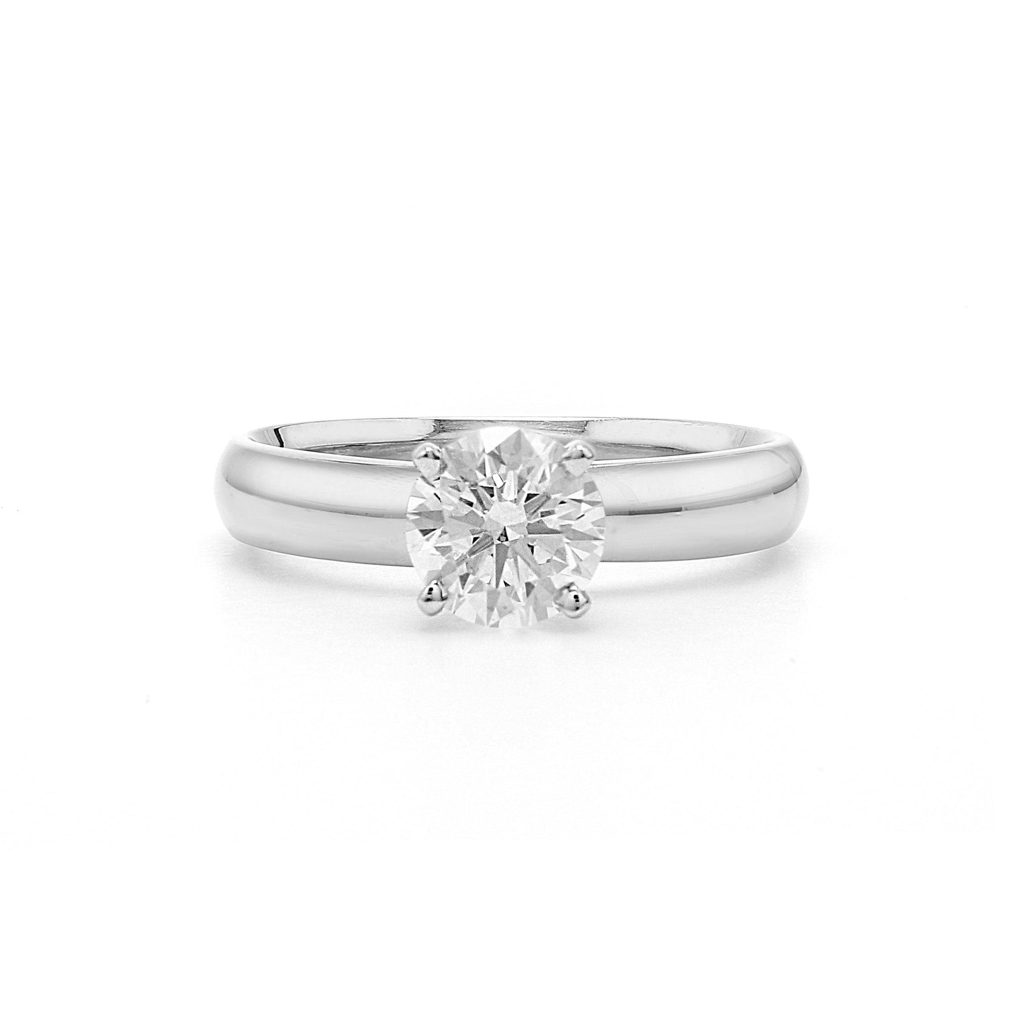1.00 Carat Lab-Grown Diamond Ring 14K White Gold (Center:  I SI1)