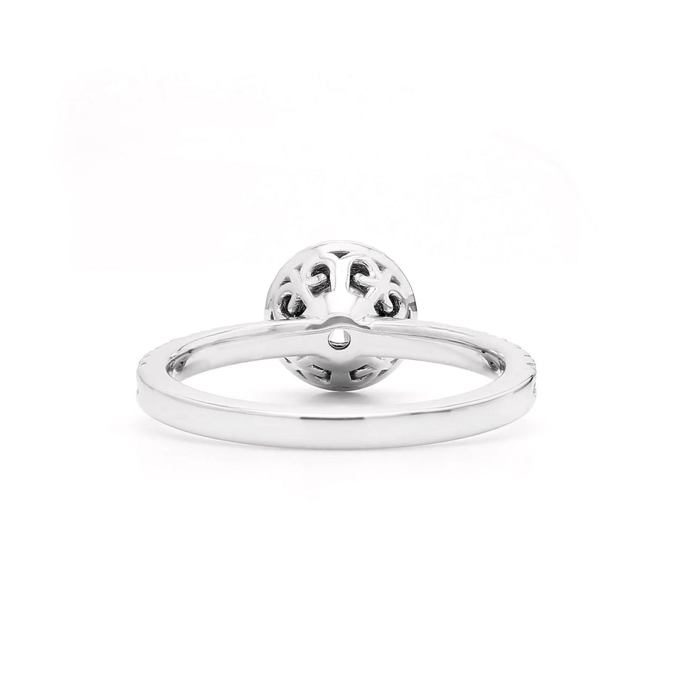 0.39 Ct. T.W. Lab-Grown Diamond 14K White Gold