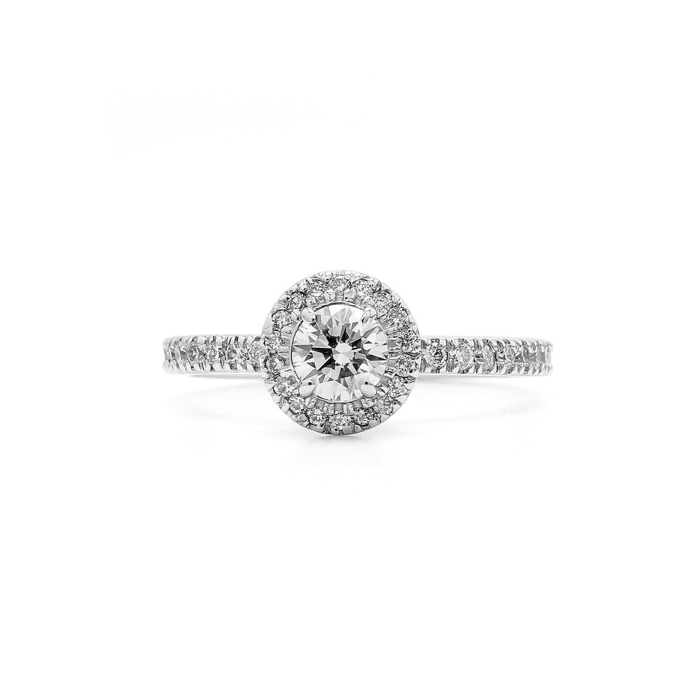 0.39 Ct. T.W. Lab-Grown Diamond 14K White Gold (Setting Only)