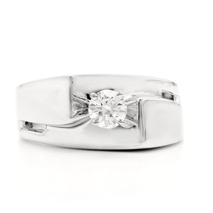 1/3 Ct. Lab-Grown Diamond Solitaire Ring 14K White Gold
