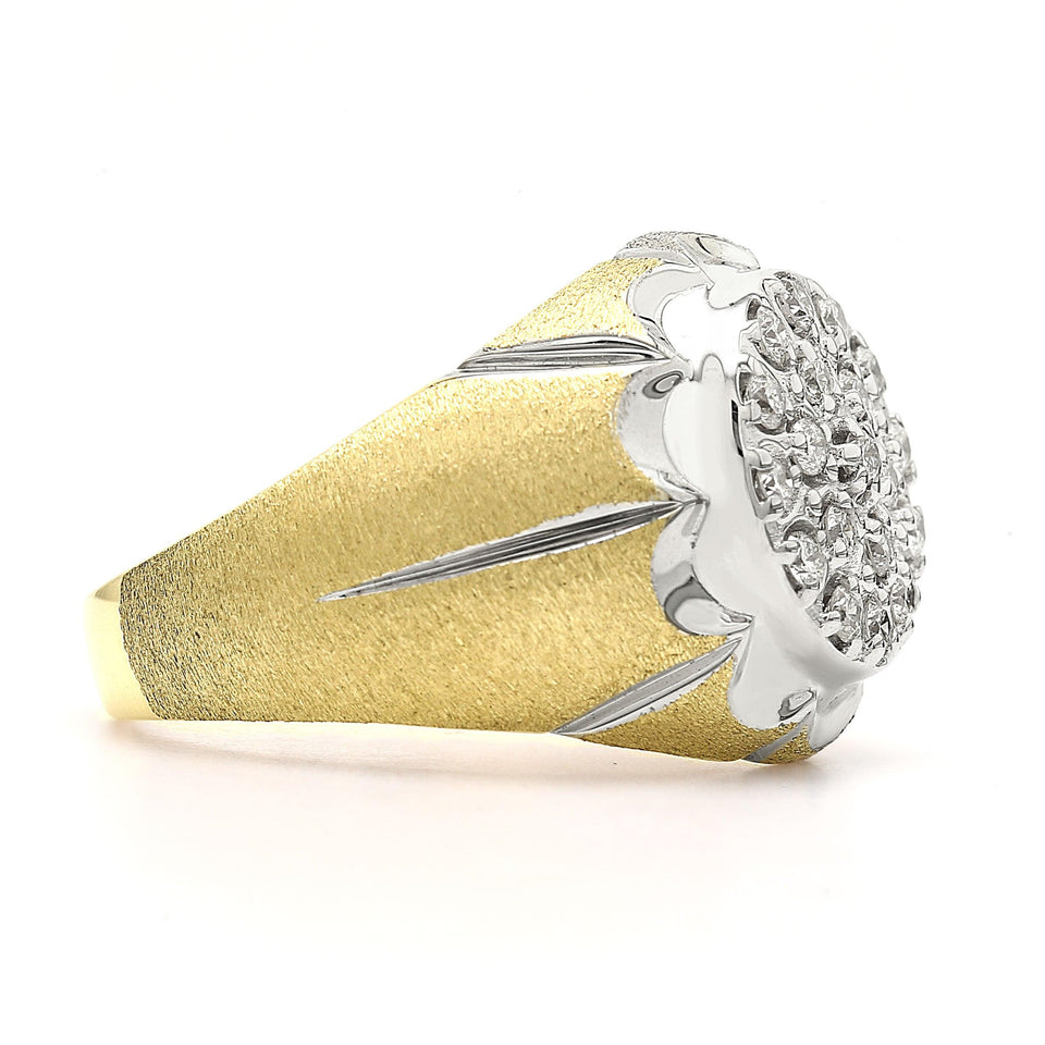1/2 Ct. T.W. Lab Grown Diamond Men's Ring 14K Yellow Gold