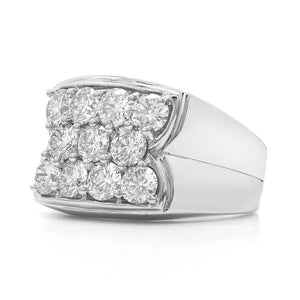 3.00 Ct. T.W. Lab-Grown Diamond Men's Ring 14K White Gold