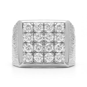 2.00 Ct. Round Lab-Grown Diamond Men's Ring 14K White Gold