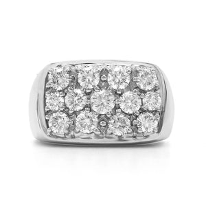 2.00 Ct. T.W. Lab-Grown Diamond Men's Ring 14K White Gold