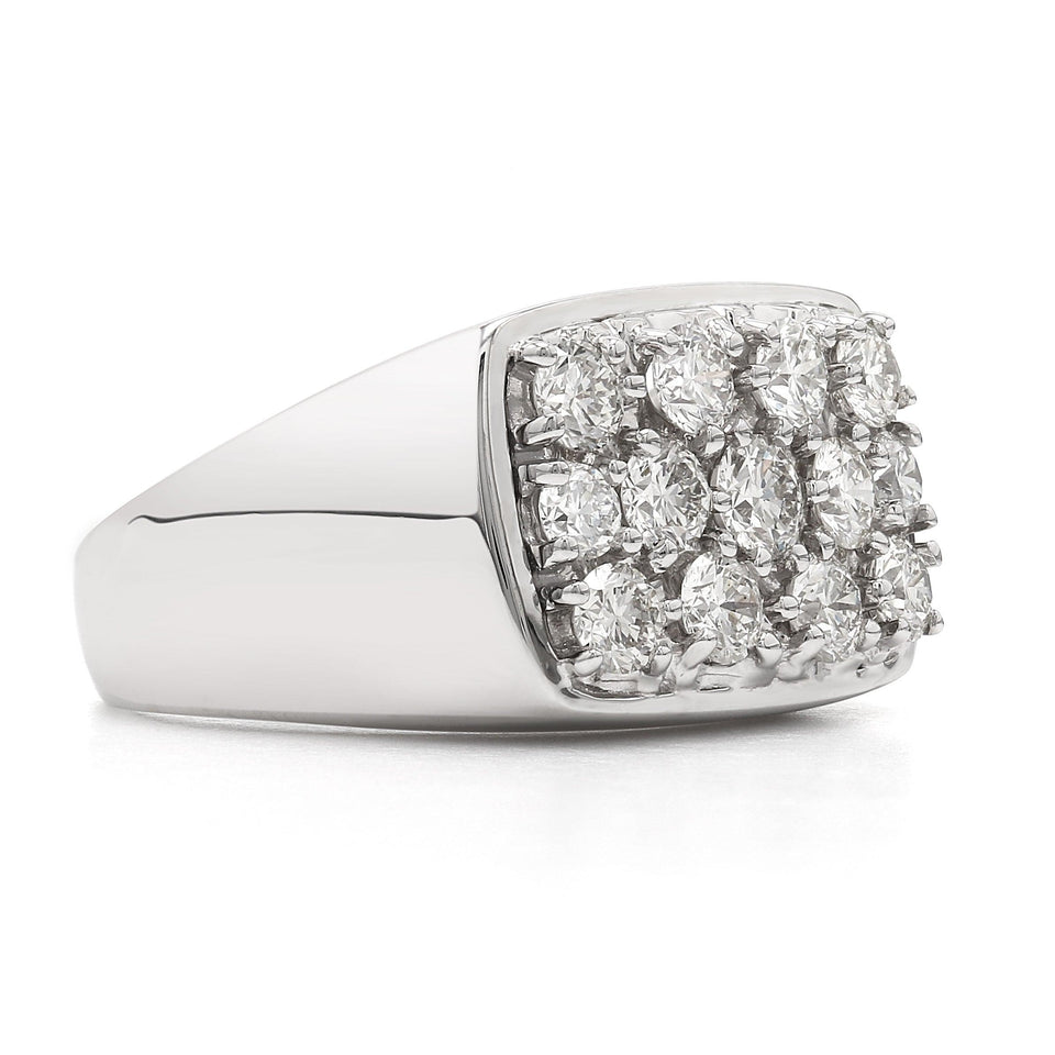 2.00 Ct. T.W. Lab Grown Diamond Men's Ring 14K White Gold