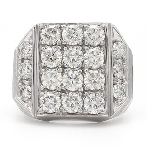 4.00 Ct. T.W. Lab-Grown Diamond Men's Ring 14K White Gold