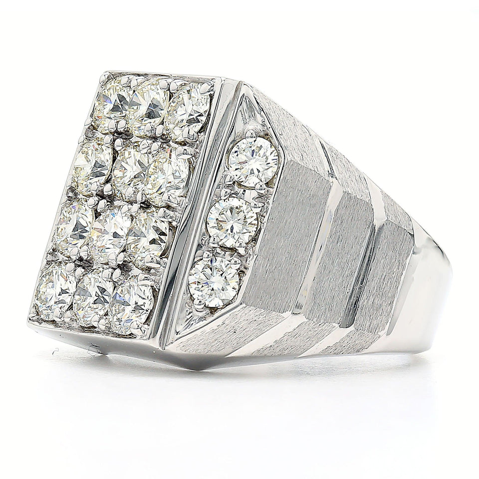 4.00 Ct. T.W. Lab Grown Diamond Men's Ring 14K White Gold