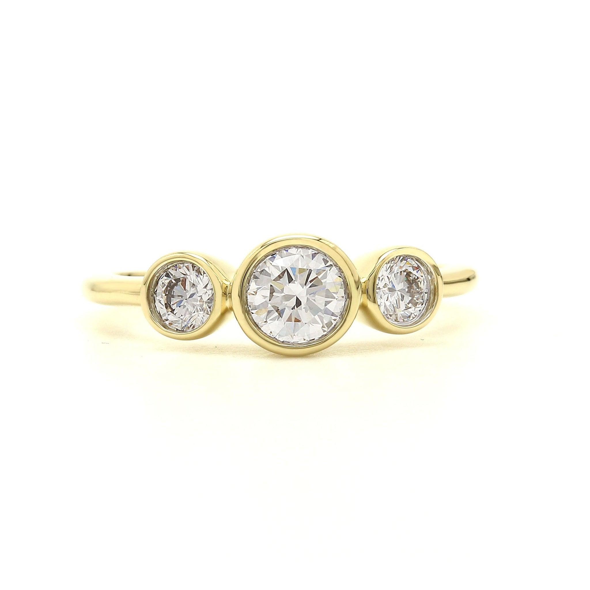 3/4 Ct. T.W. Lab-Grown Diamond Bezel Ring 14K Yellow Gold