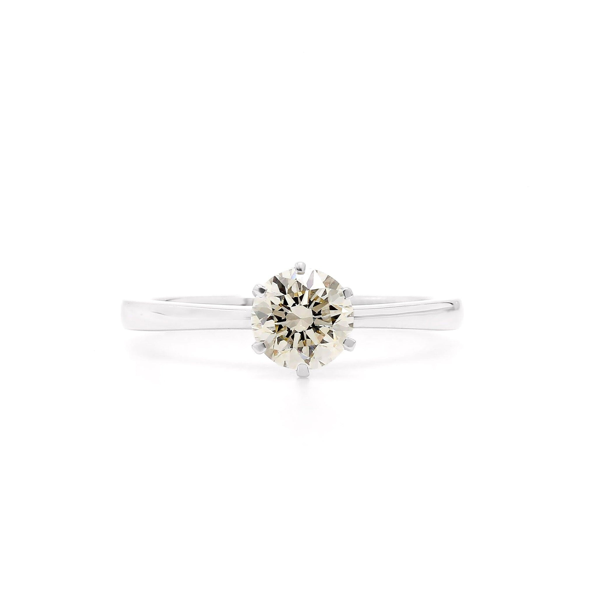 0.93 Ct. T.W. Lab-Grown Diamond 14K White Gold Ring (Center: 0.93 Ct. J VS2)