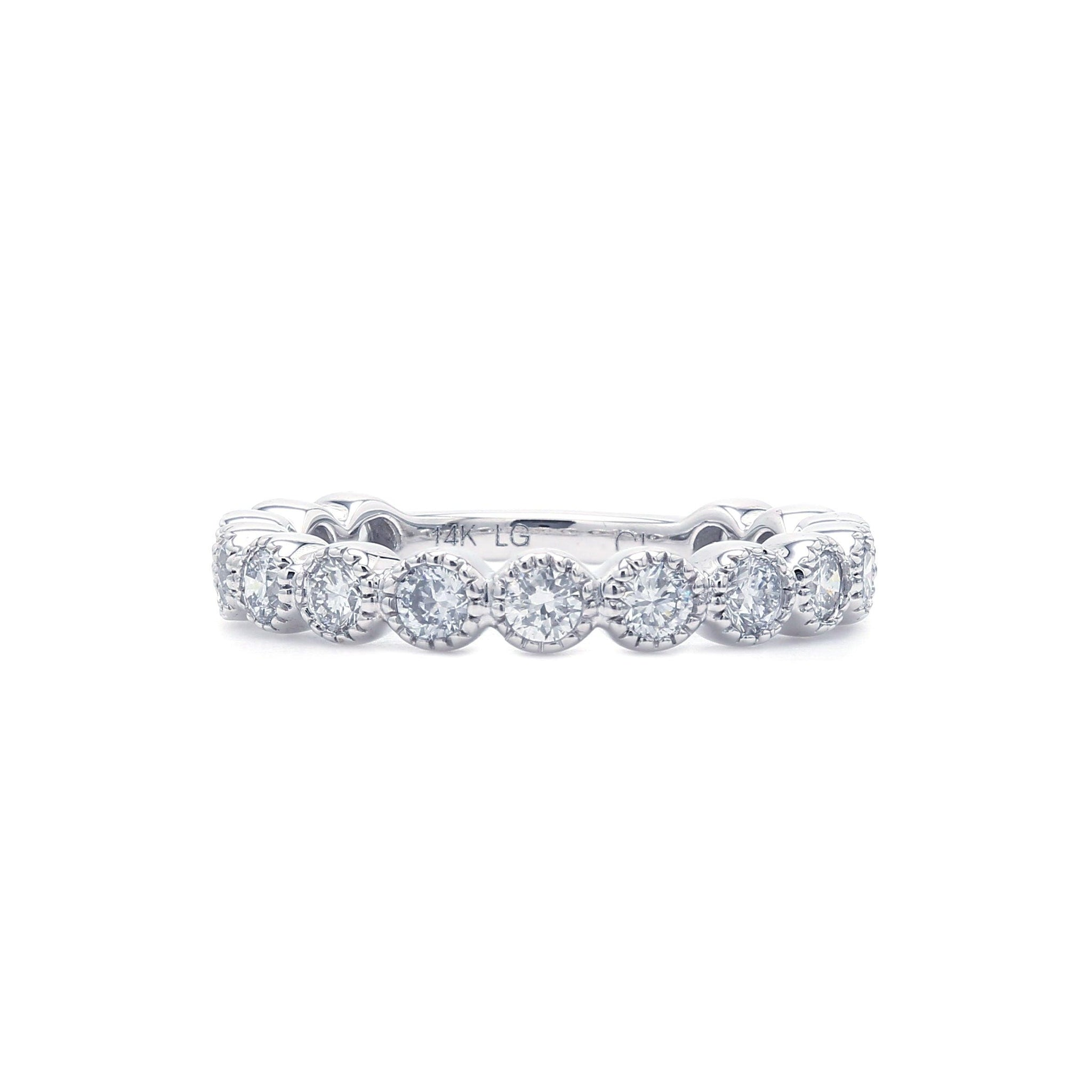 0.80 Ct. T.W. Lab-Grown Diamond Band 14K White Gold