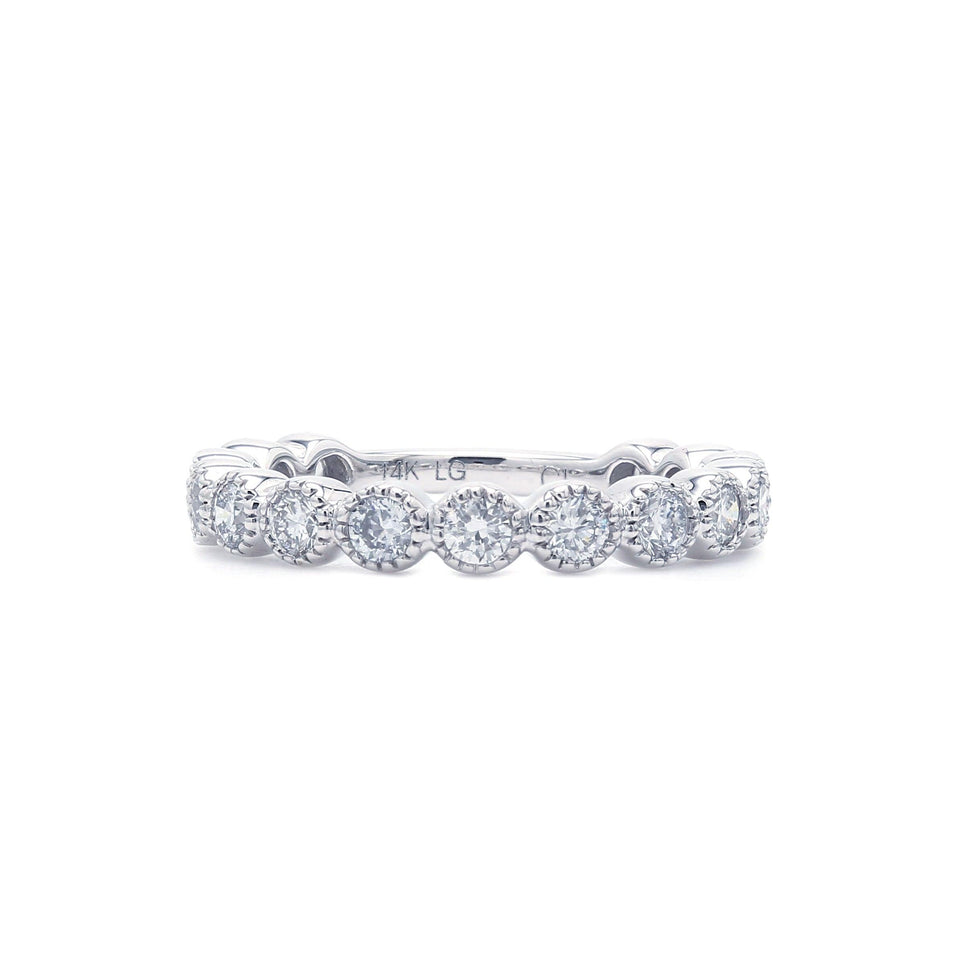1.00 Ct. T.W. Lab-Grown Diamond Band 14K White Gold