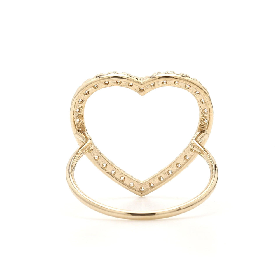1/2 Ct. T.W. Lab-Grown Diamond Heart Ring 14K Yellow Gold