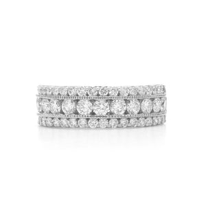 1 1/2 Ct. T.W. Lab-Grown Diamond 14K White Gold Band