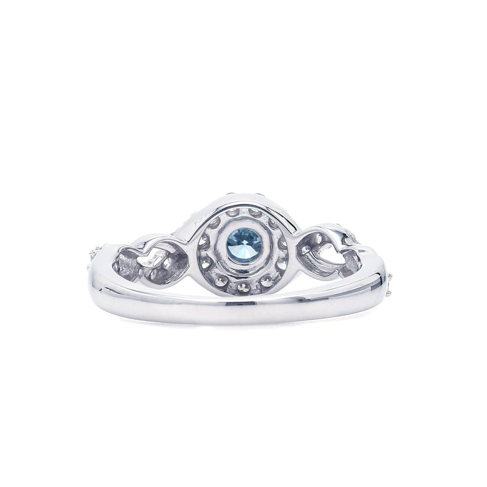 3/4 Ct. T.W. Lab-Grown Ice Blue And White Diamond 14K White Gold Ring (Center: 1/3Ct)