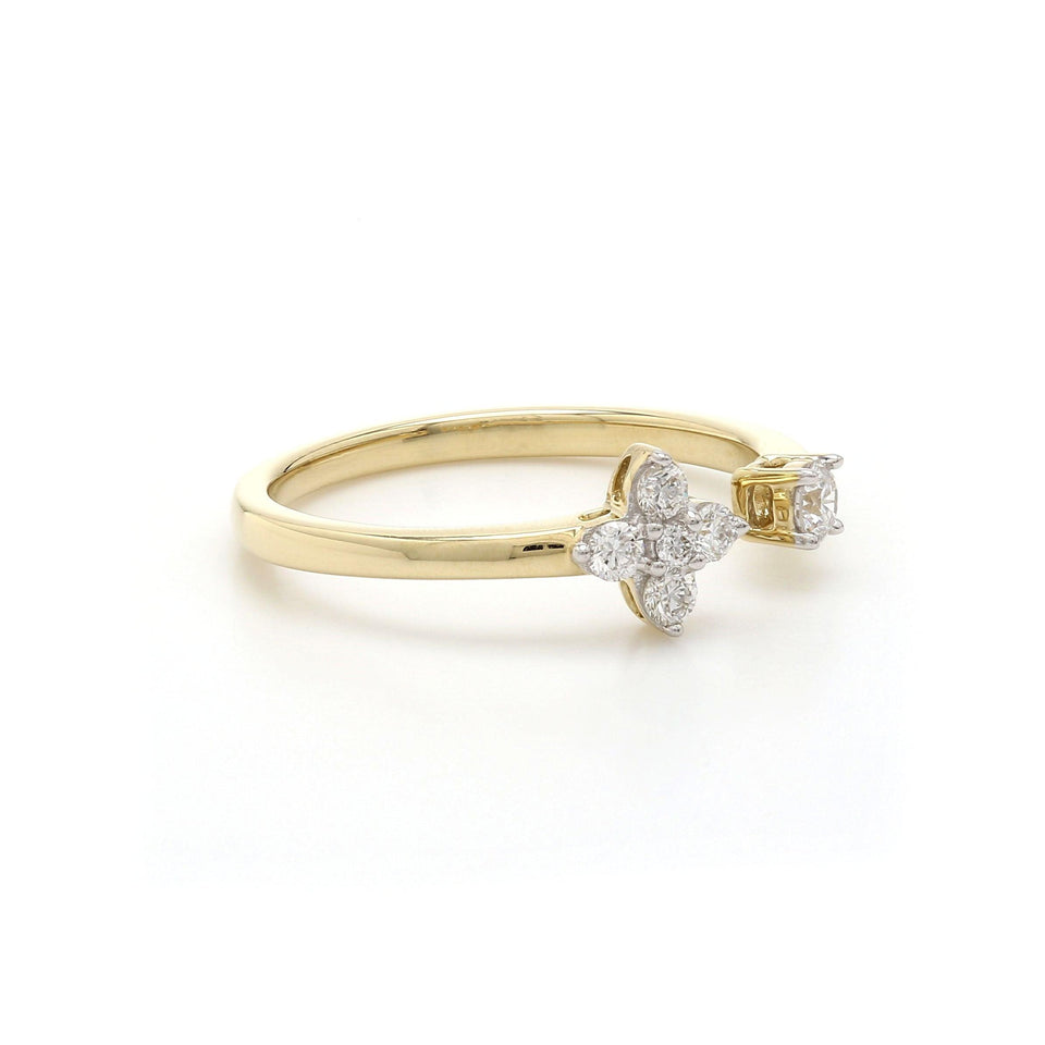 1/4 Ct. T.W. Lab-Grown Diamond Stack Ring 14K Gold