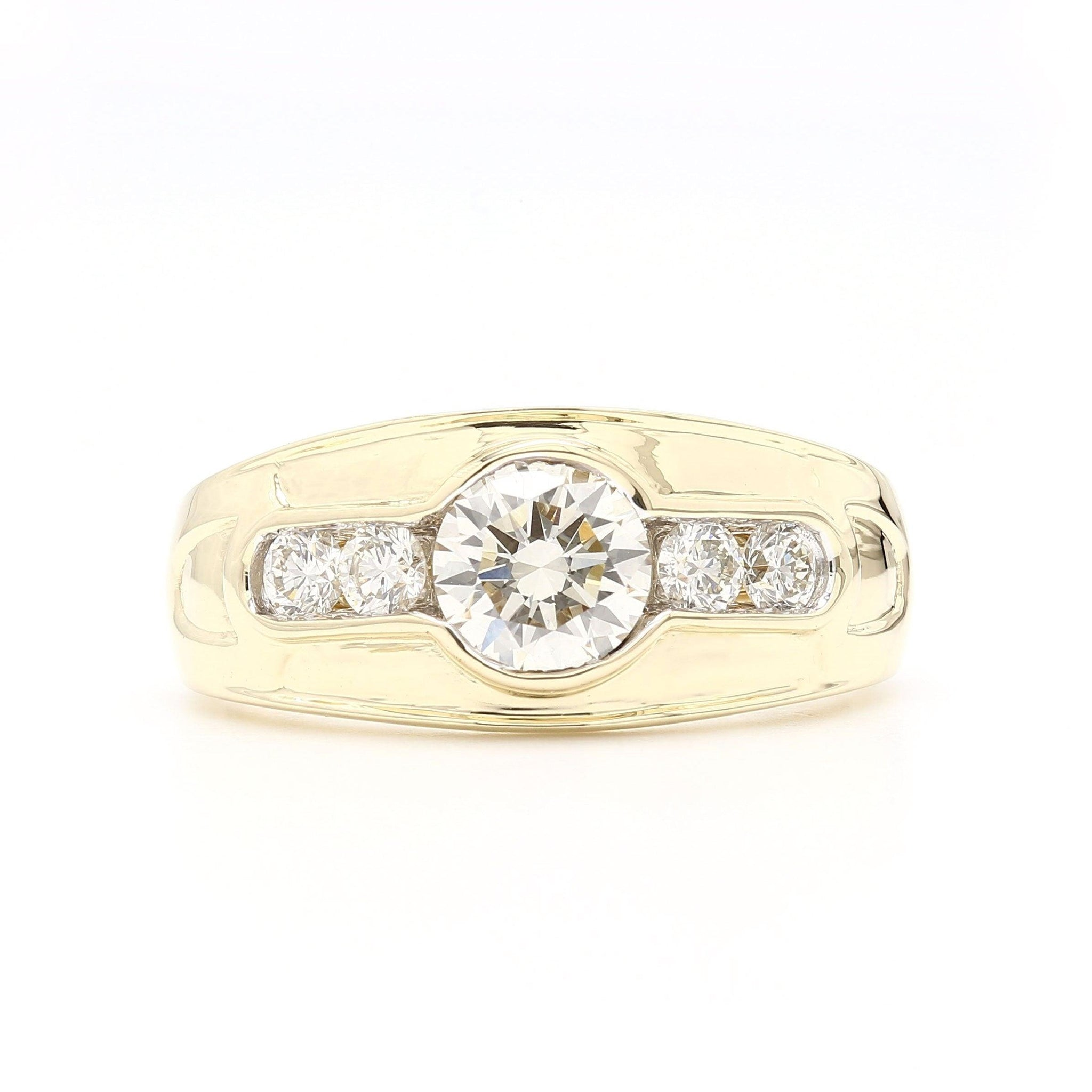 1 3/4 Ct. T.W. Lab-Grown Diamond Men's Ring 14K Yellow Gold