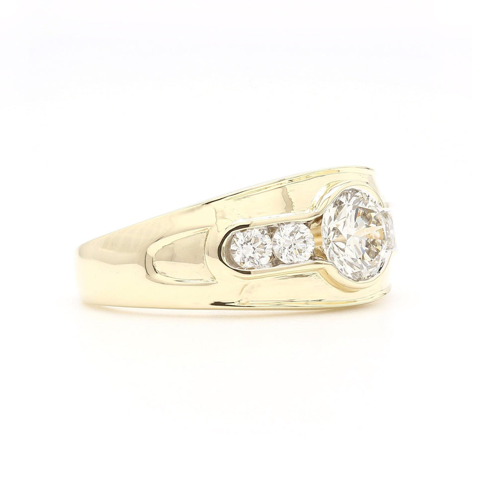 1 3/4 Ct. T.W. Lab Grown Diamond Men's Ring 14K Yellow Gold