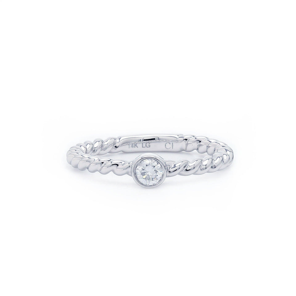 promise ring stackable solitaire