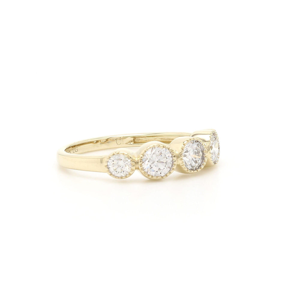 1.00 Ct. T.W. Lab-Grown Diamond Ring 14K Yellow Gold