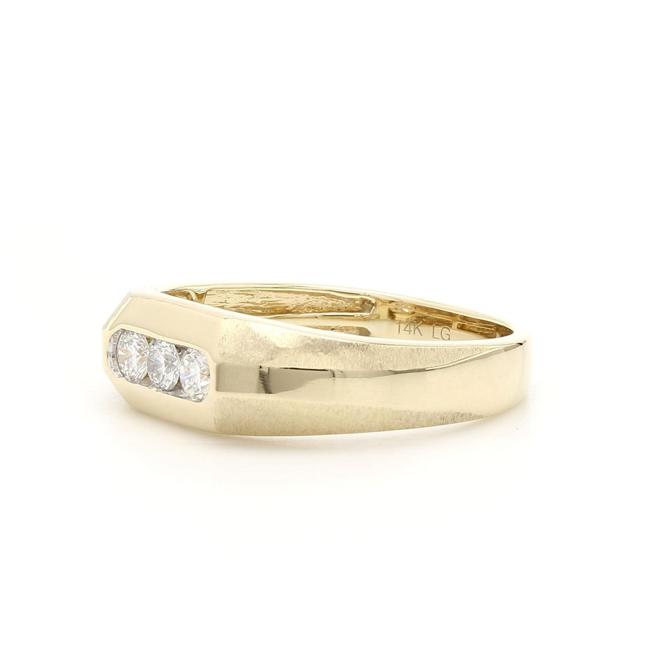 1/3 Ct. Round Lab Grown Diamond Men's Ring 14K Yellow Gold
