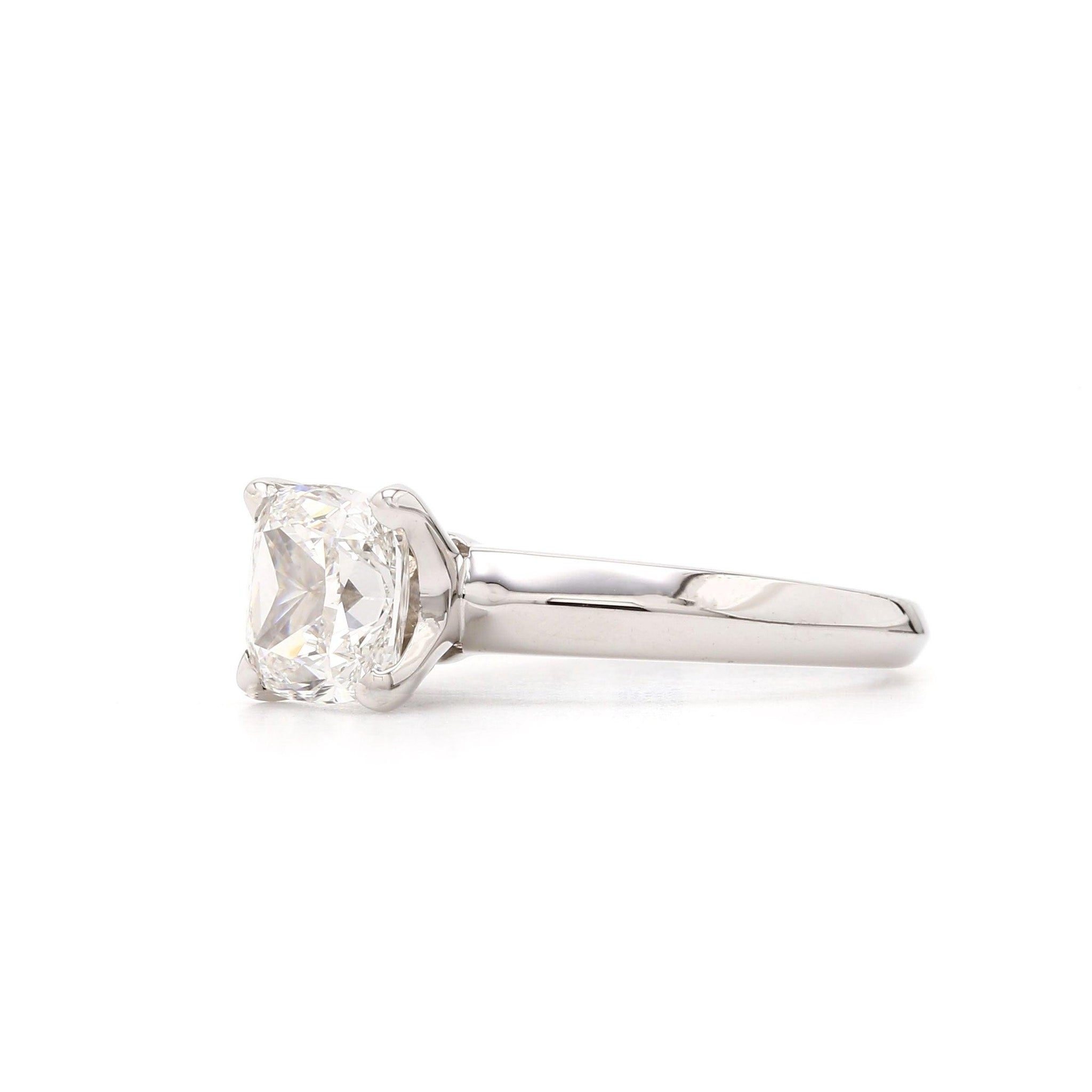 14K Gold Solitaire Cushion Cut (Setting Only)