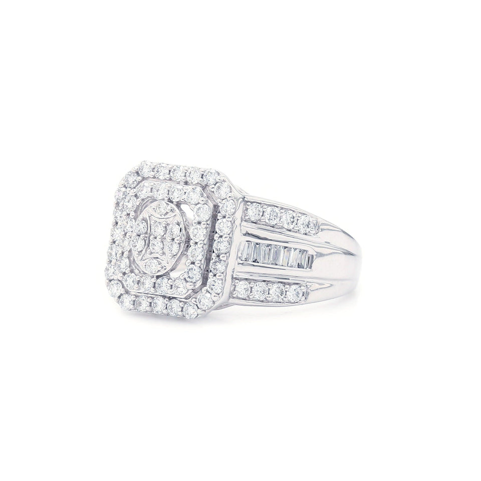 1.00 Ct. T.W. Lab Grown Diamond 14K White Gold Ring