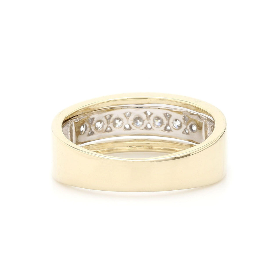 0.60 Ct. T.W. Lab-Grown Diamond Ring 14K Two Tone Gold