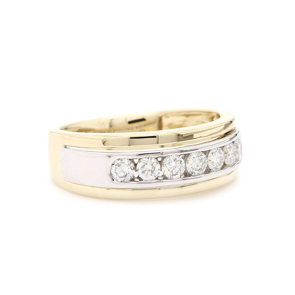 0.60 Ct. T.W. Lab Grown Diamond Ring 14K Two Tone Gold