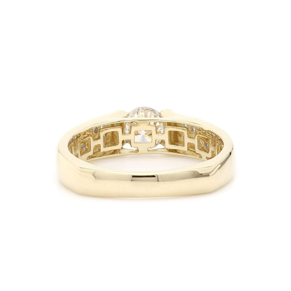 1.36 Ct. T.W. Lab-Grown Diamond Men's Ring 14K Yellow Gold