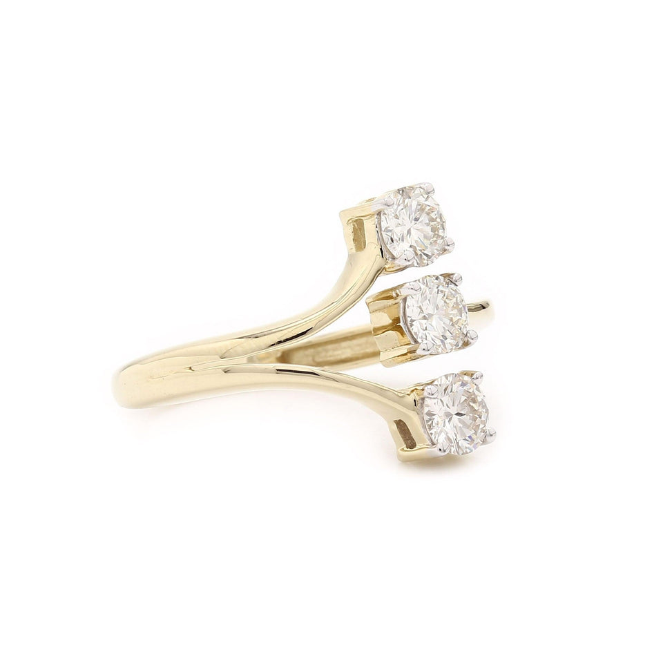 1.00 Ct. T.W. Lab Grown Diamond Ring 14K Yellow Gold