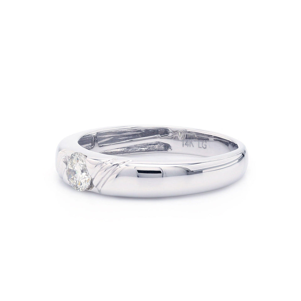 1/2 Ct. T.W. Lab-Grown Diamond Men's Ring 14K White Gold