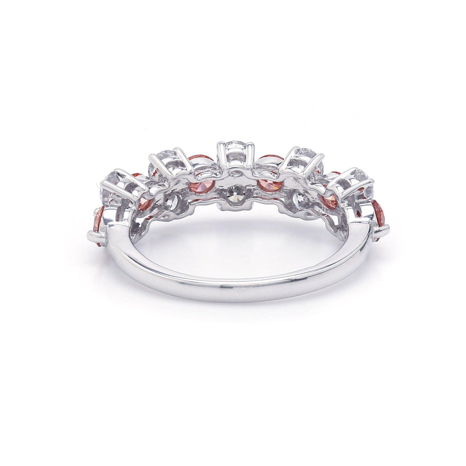 2.00 Ct. T.W. Pink And White Lab-Grown Diamond Ring 14K White Gold