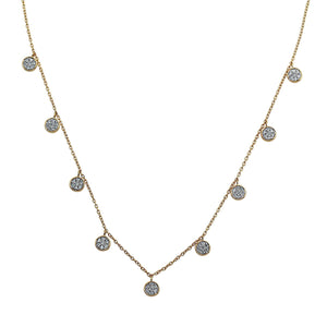 Nuri & Ash Blaze Diamond Dangle Necklace - 14k Gold Over Sterling Silver