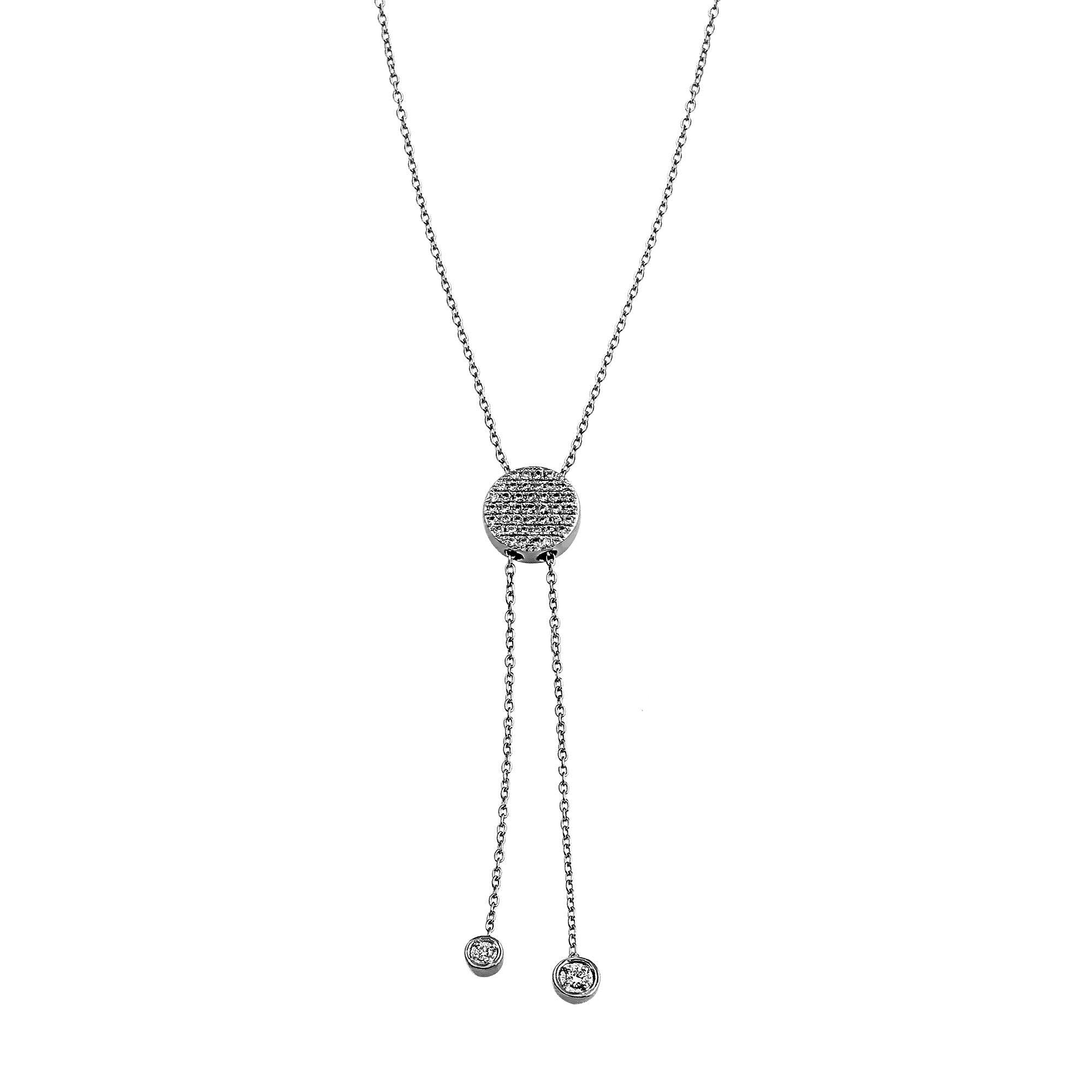 Nuri & Ash Blaze Lariat Diamond Necklace - Sterling Silver