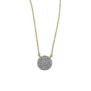 Nuri & Ash Blaze Diamond Pendant - 14k Gold Over Sterling Silver