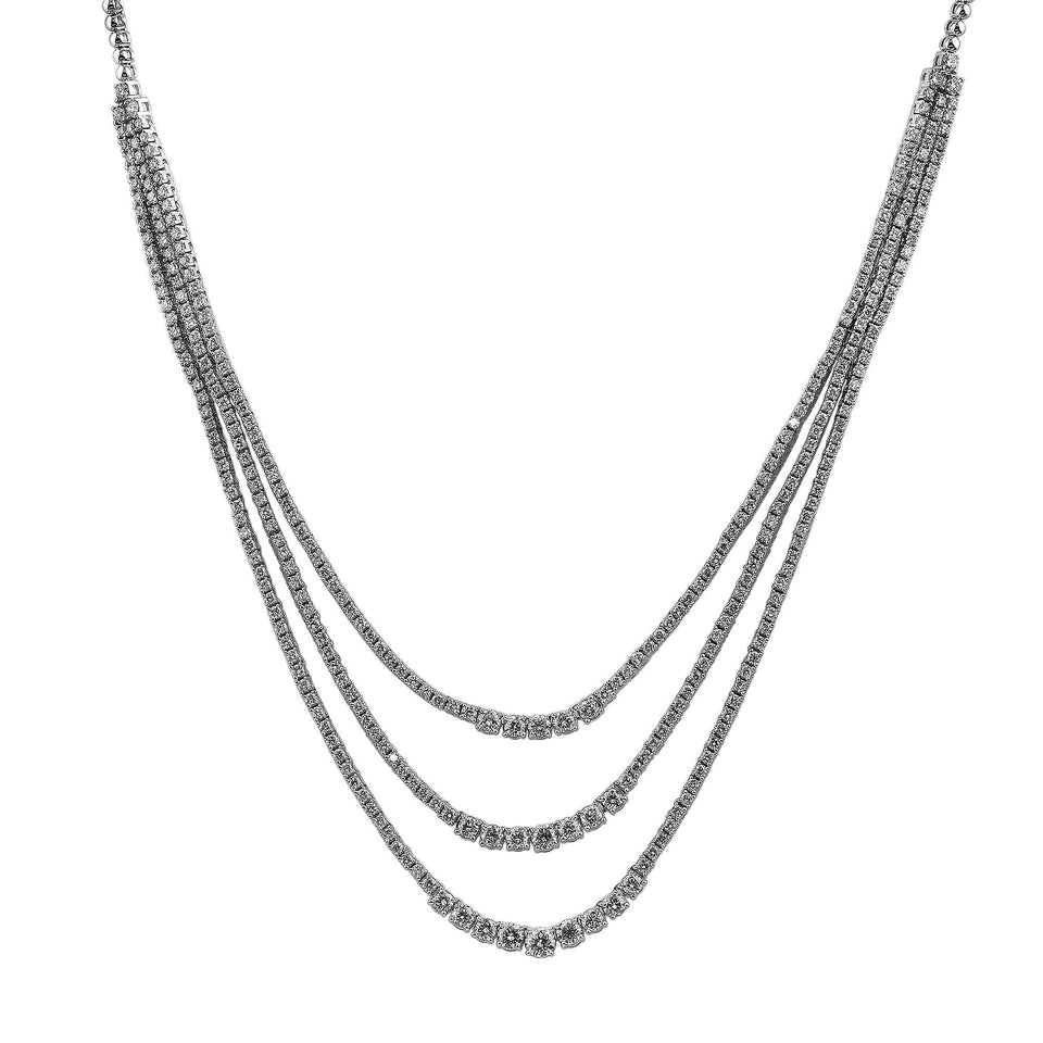 12.00 Ct. T.W. Lab Grown Diamond 14K White Gold Necklace
