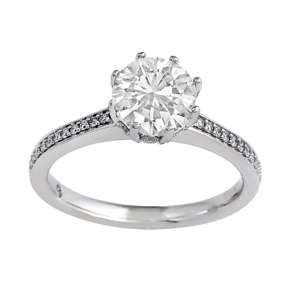 1/3 Ct. T.W. Lab-Grown Diamonds 14K White Gold (Setting Only)