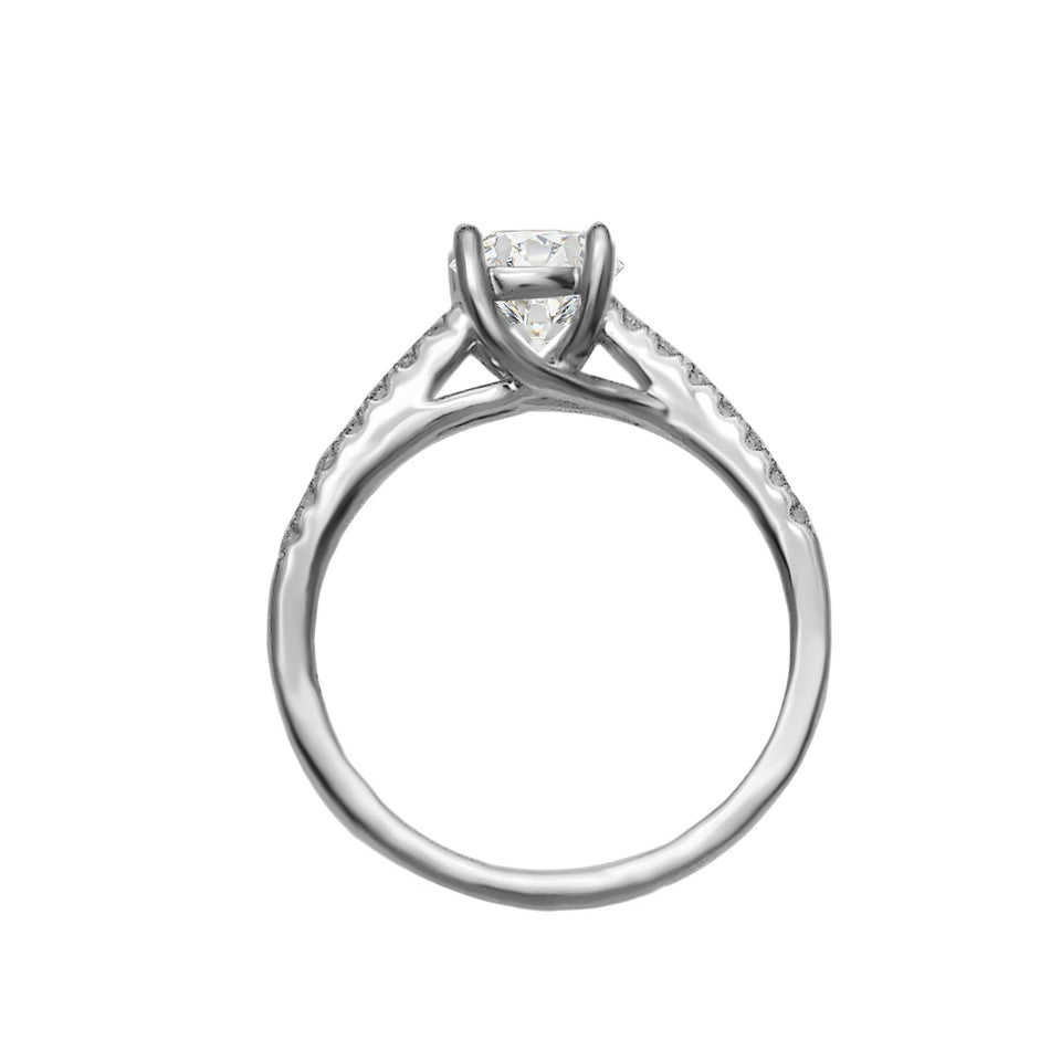 1/5 Ct. T.W. Lab-Grown Diamonds 14K White Gold (Setting Only)