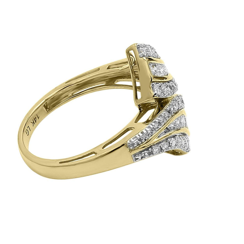 1/2 Ct. T.W. Lab Grown Diamond Ring 14K Yellow Gold