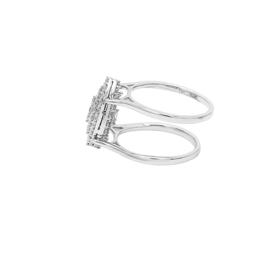 1.00 Ct. T.W. Lab-Grown Diamond 14K White Gold Reversible Ring