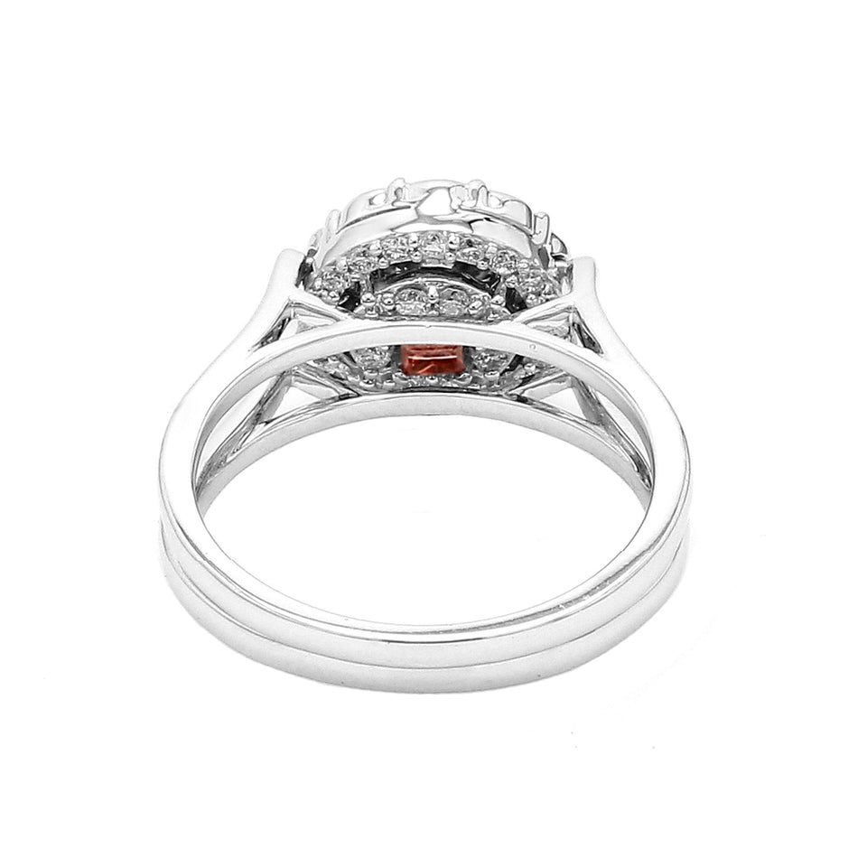 1 1/2 Ct. T.W. Lab-Grown Multi Color Diamond 14K White Gold Reversible Ring
