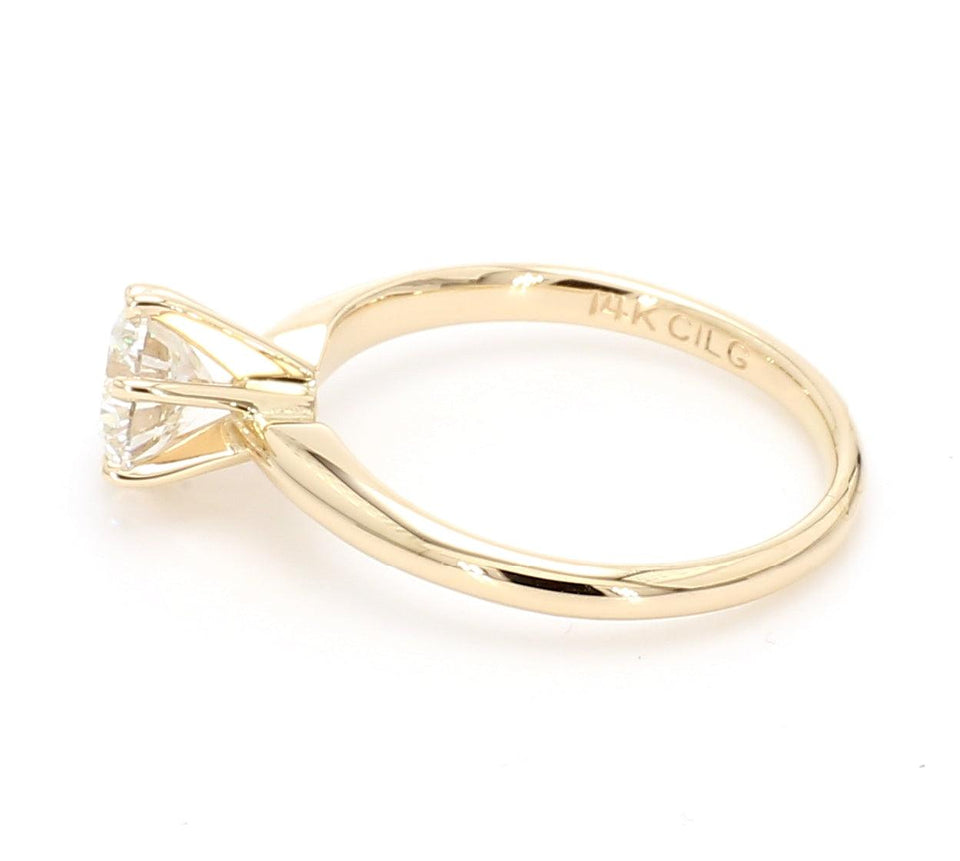 1.00 Carat Solitaire Lab-Grown Diamond 14K Gold Ring