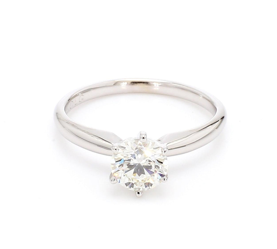 0.90 Carat Solitaire Lab-Grown Diamond 14K Gold Certified Ring*