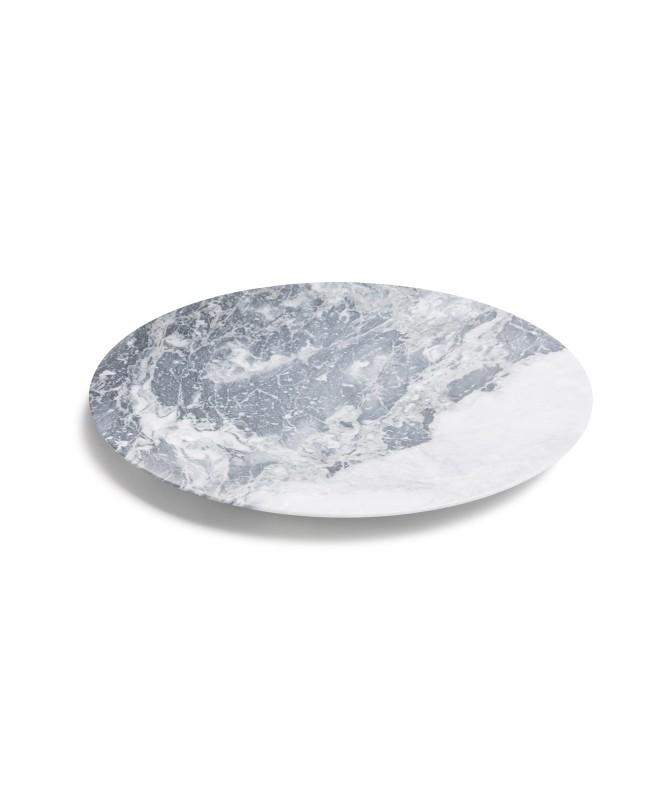 Bramante Grigio Grey Marble Tray Tray Stories of Italy