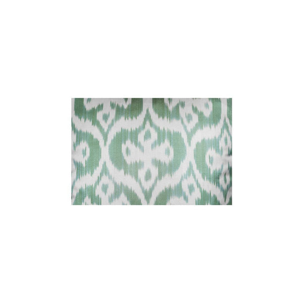 Kushaan Handwoven Silk Ikat Cushion Light Green